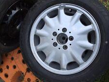 """A2104010602 GENUINE Mercedes 16"""" RIM WHEEL SILVER 16X7.5 Ronal & Tire 215/55R15"""
