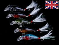 5 X 4g Snap Bean Micro Ultra Light Lures Perch Trout Chub shallow FishiUK 4g #25
