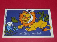 1920-1930 CHROMO GRANDE IMAGE ECOLE BON-POINT FABLES LA FONTAINE LION MALADE