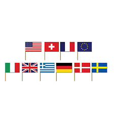"""50 International Flag World Countries Sports Party Decoration 2.5"""" Snack Picks"""