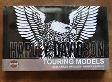 2018 HARLEY-DAVIDSON TOURING OWNERS MANUAL-NEW SEALED-FLHR FLHX FLHTK FLHTCU