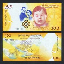 2016 (2018) BHUTAN 100 NGULTRUM P-NEW UNC *ROYAL BABY COMM W/FOLDER*
