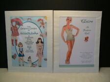 """Paper Doll Reproductions """" Claire – A Fashion Doll & The Designs of Hilda Miloch"""