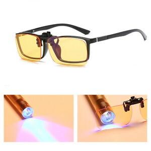Computer Glasses Clip On Lens Anti Glare Blocking Blue Light Filter Eyeglasses