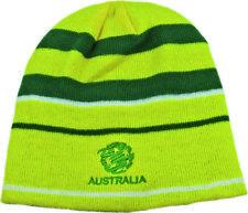 Australia Socceroos Reversible Gold & Green Beanie! 2 in 1 Winter Beanie! World