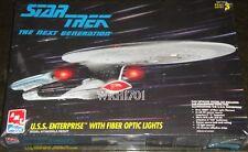 USS ENTERPRISE NCC-1701-D FIBER OPTIC Model Kit MISB Star Trek TNG Free Hologram