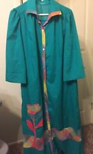 Unbranded Women's Long Flora Luxury Duster Patio Lounger Size XL Green