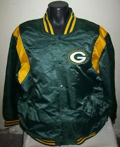 GREEN BAY PACKERS Starter Snap Down Jacket GREEN  3X