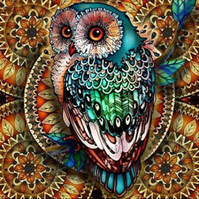 Full Drill Green Owl DIY 5D Diamond Painting Embroidery Cross Stitch Home Decor