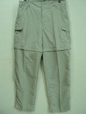 Columbia PFG Omni-Shade Women Beige  Convertible Fishing Pants Md ( 32 x 31 )