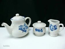 Yorktowne by Pfaltzgraff Teapot LOT with Creamer Pitcher & Sugar Bowl with Lid