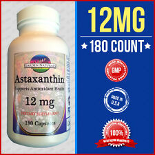 Astaxanthin Powerful Antioxidant Support 12mg Per Serving Size Made USA Facility