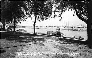 H70/ Sandusky Ohio RPPC Postcard c1950s Yacht Basin Battery Park 136