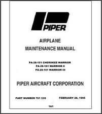 Maintenance Manual for Piper PA-28-151/161 Warrior in 3-Ring Binder