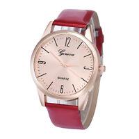 Geneva Women Watches Roman Numerals Leather Analog Quartz Wrist Watch Swiss