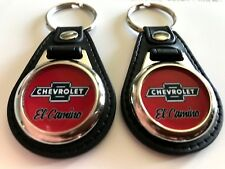 CHEVROLET EL CAMINO 2 PACK OF Keychains FOB RED