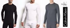 Calvin Klein Men's T-Shirt Long Sleeve Micro Modal New Ck U1139 Crew Neck