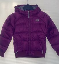 North Face Girls Merlot Color Bomber Dawn Jacket Size 10/12