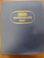 QUATTRORUOTE  1957  annata completa rilegata originale  OTTIMA