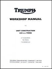 TRIUMPH 650 UNIT TWIN FACTORY SHOP MANUAL T120 TR6 6T 1963-1970 PN# 99-0883/0889