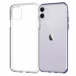 CLEAR Shockproof Case For 13 12 Pro Max Mini XR X XS Max 8 7 Plus Cover Silicone
