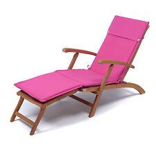 Cuscino per lettino steamer giardino colore fucsia in poliestere idrorepellente