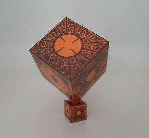 Hellraiser wooded puzzel cube prop block/play block with stand great gif