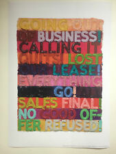MEL BOCHNER, 'Going out of Business' exhibition poster, British Museum, 2017.
