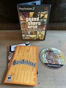 Grand Theft Auto San Andreas Playstation 2 Complete Tested PS2 with Map Poster