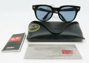 Ray-Ban RB 2168 901/52 50mm New Black/ Blue Meteor Classic Sunglasses with case
