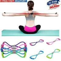 Stretch Band Rope Rubber Latex Arm Resistance Fitness Exercise Pilates Yoga Gym