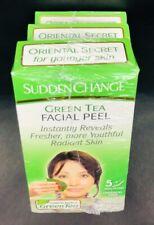 3-Pack Sudden Change Green Tea Facial Peel Oriental Secret Natural Chemical Free