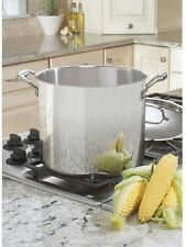 Cuisinart 12 Qt/Quart Stock Pot Cover Lid Stainless Steel Cookware Kettle Oven