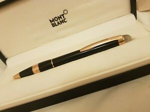 Rare Montblanc Starwalker Black & Rose Red Gold Ballpoint Pen. In perfect cond