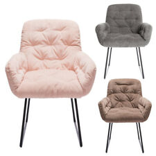 Occasional Accent Tub Button Fabric Armchair Sofa Chair With Metal Legs Nordic