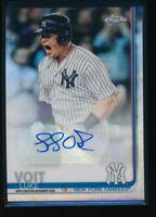 LUKE VOIT AUTO 2019 Topps Chrome Update Autograph New York Yankees Refractor