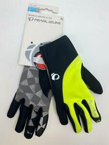 new Pearl Izumi Select SOFTSHELL GLOVE Long Finger Women's XL Black and Yellow