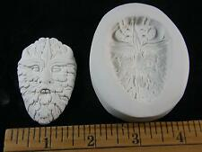 Leaf Face (Large) Polymer Clay Mold Beehive Emporium Outlet (#MD1502)