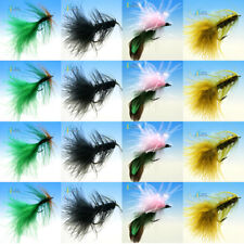 12PCS Color insects Fly hooks fly fishing Outdoor Fly Fishing #12W//Free Box D580