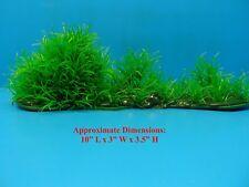 "PLASTIC PLANT HEAVY BASE 3408 AQUARIUM DECORATION Approx. 10""L x 3""W x 3.5""H"