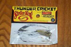 Strike King Thunder Cricket Vibrating Bladed Jig 1/2oz (White) NIP