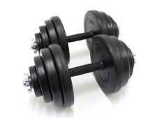 SET OF X2 7.5 KG DUMBBELLS WEIGHT FITNESS TRAINING MADE OF RUBBER BICEPS TRICEPS
