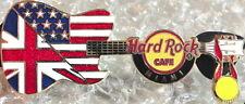 Hard Rock Cafe MIAMI 2012 USA & UK Flags GUITAR PIN w/Gold Medal Summer Olympics