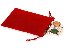 50 RED 4x5 Jewelry Pouches Velour Velvet Gift Bags