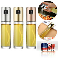 Stainless Steel Oil Sprayer Cooking Mister Spray Pump Fine Bottle Kitchen Tool
