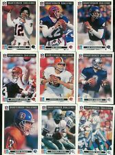 1991 UPPER DECK DOMINO'S QUARTERBACK CHALLENGE FOOTBALL COMPLETE SET 1-50