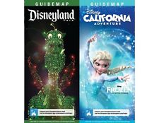 2017 New Disneyland Map Guides Main Street Electrical Parade & Frozen DCA