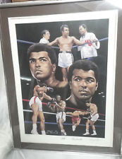 MUHAMMAD ALI AUTOGRAPHED 18x24 LITHOGRAPH COLLAGE BY ANGELO MARINO FRAMED AUTO
