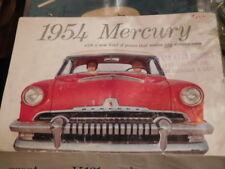 1954 Mercury Fold Out Sales Brochure 8 part