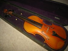 old 4/4 (or7/8?) violin violon, Nice 1part back, comes  in old wooden case!